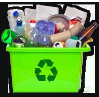 Les matières recyclages : Tout en vrac dans le bac de récupération!