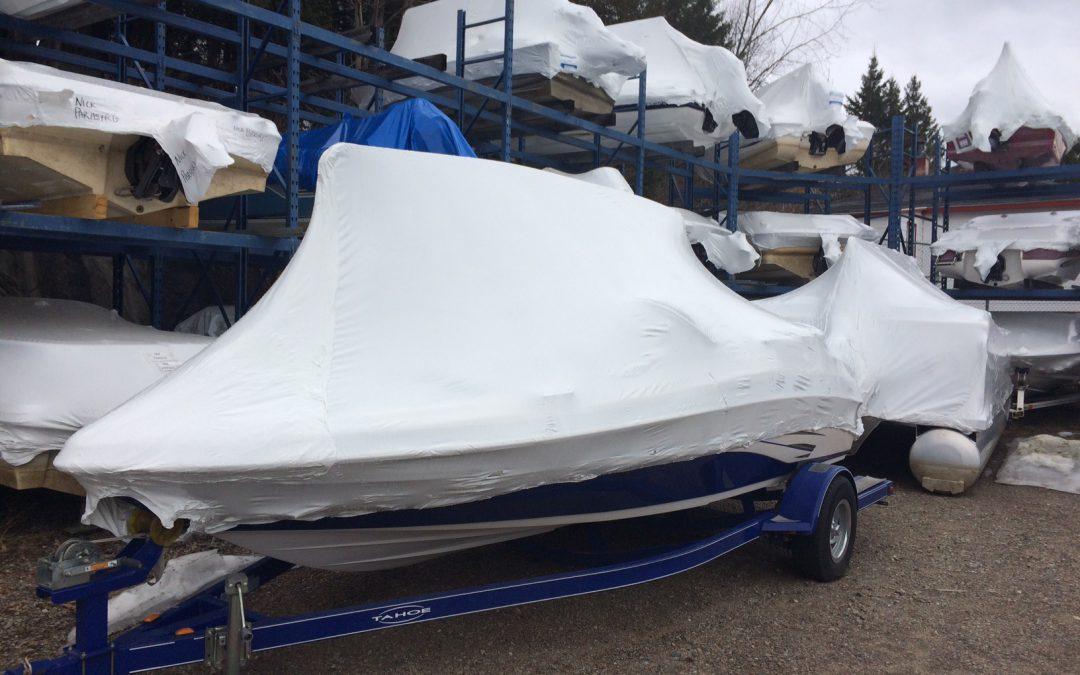 PROJET PILOTE de recyclage des emballages de plastique d'hivernisation pour bateaux